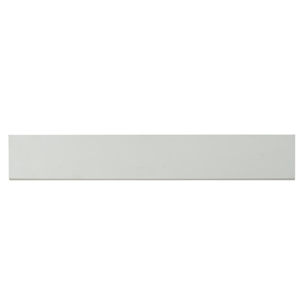 Msi White Bullnose 4 in. x 24 in. Glazed Ceramic Wall Tile (10 lin. ft. / case)