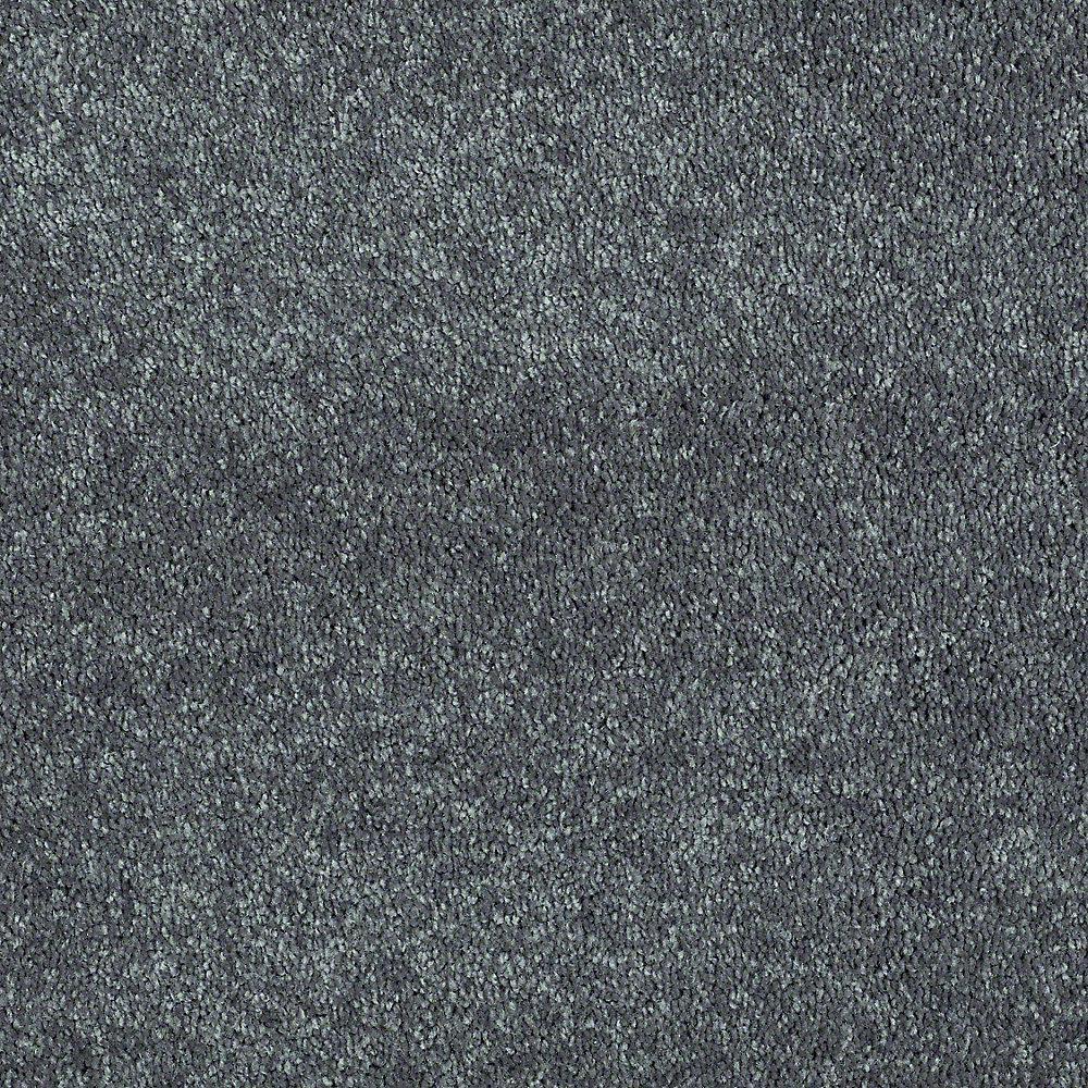 Brave Soul I - Color Black Satin Texture 12 ft. Carpet