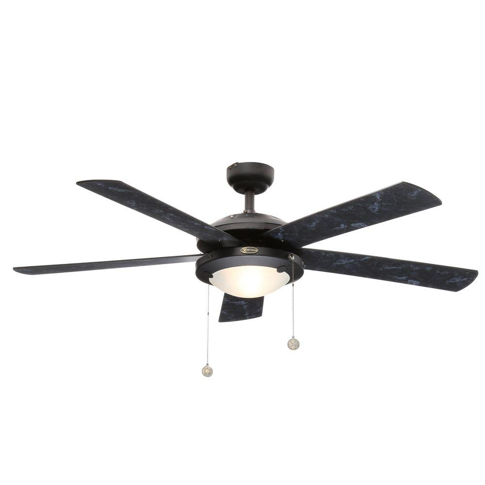 Indoor Matte Black Finish Ceiling Fan