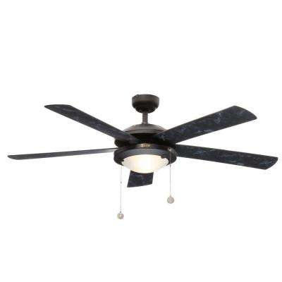Comet 52 in. Indoor Matte Black Finish Ceiling Fan