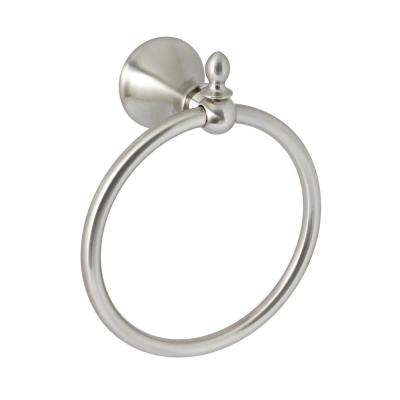 Antica Towel Ring in Satin Nickel