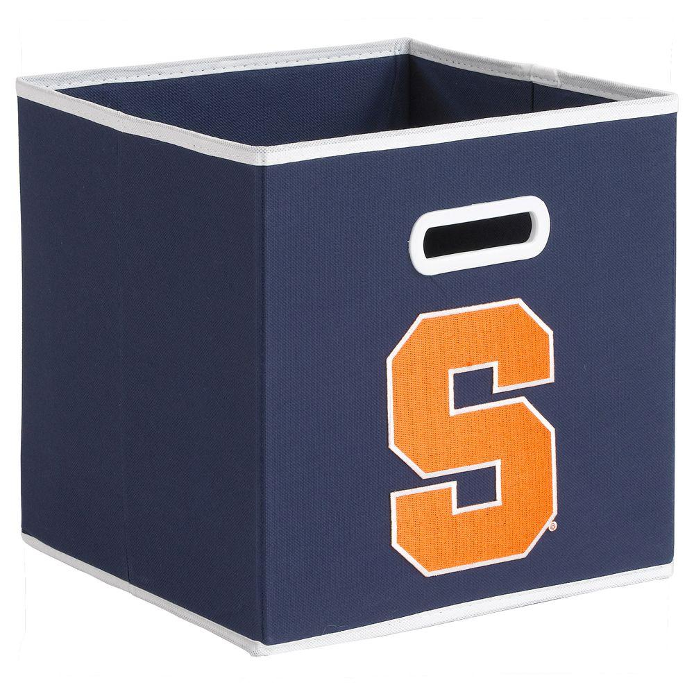 null College STOREITS Syracuse University 10-1/2 in. W x 10-1/2 in. H x 11 in. D Navy Fabric Storage Drawer