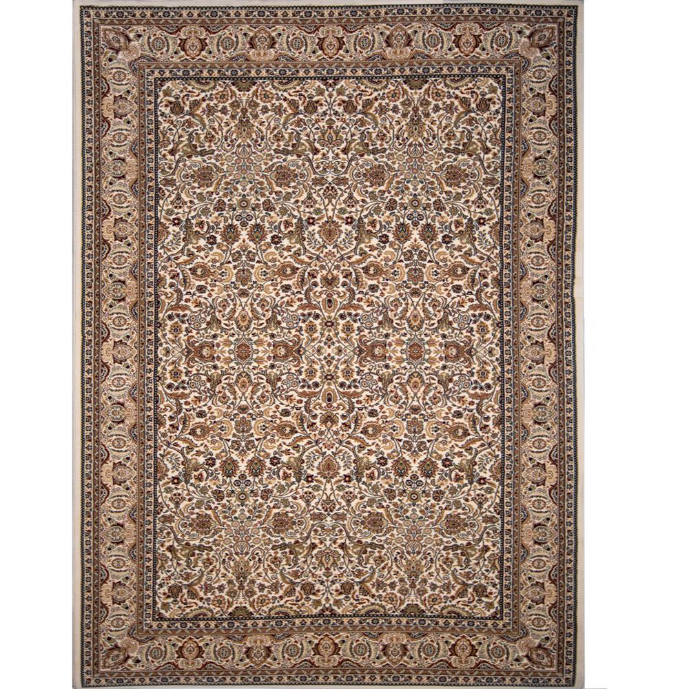 Home Dynamix Super Kashan Ivory 3 ft. 11 in. x 5 ft. 2 in. Indoor Area Rug