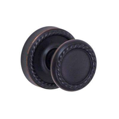 Solid Brass Oil Rubbed Bronze Rope Passage Knob with Rope Rose