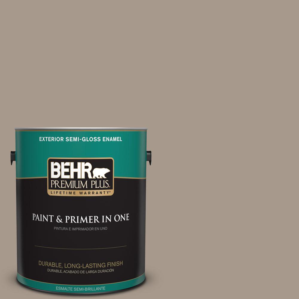 1-gal. #BXC-10 Warm Stone Semi-Gloss Enamel Exterior Paint