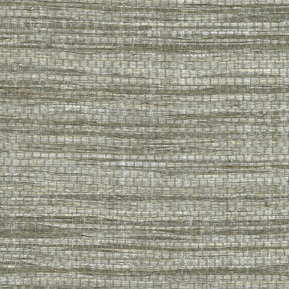 72 sq. ft. Cavite Grey Grass Cloth Wallpaper