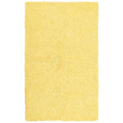 Yellow Shag Chenille Twist  1 ft. 9 in. x 2 ft. 10 in. Accent Rug