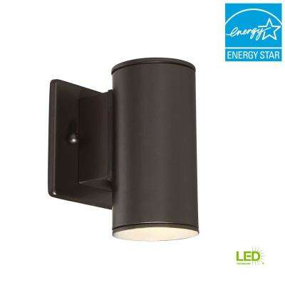 Barrow 3 in. Oil-Rubbed Bronze LED Wall Lantern