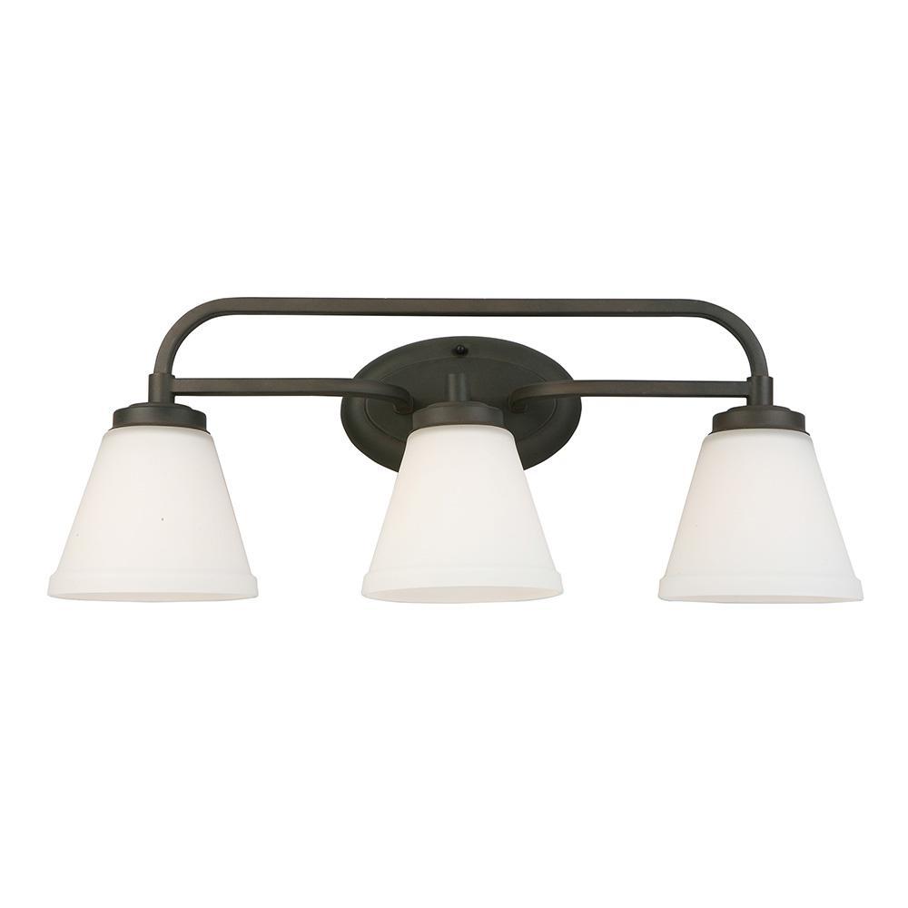 Mayview 3-Light Matte Bronze Bath Light