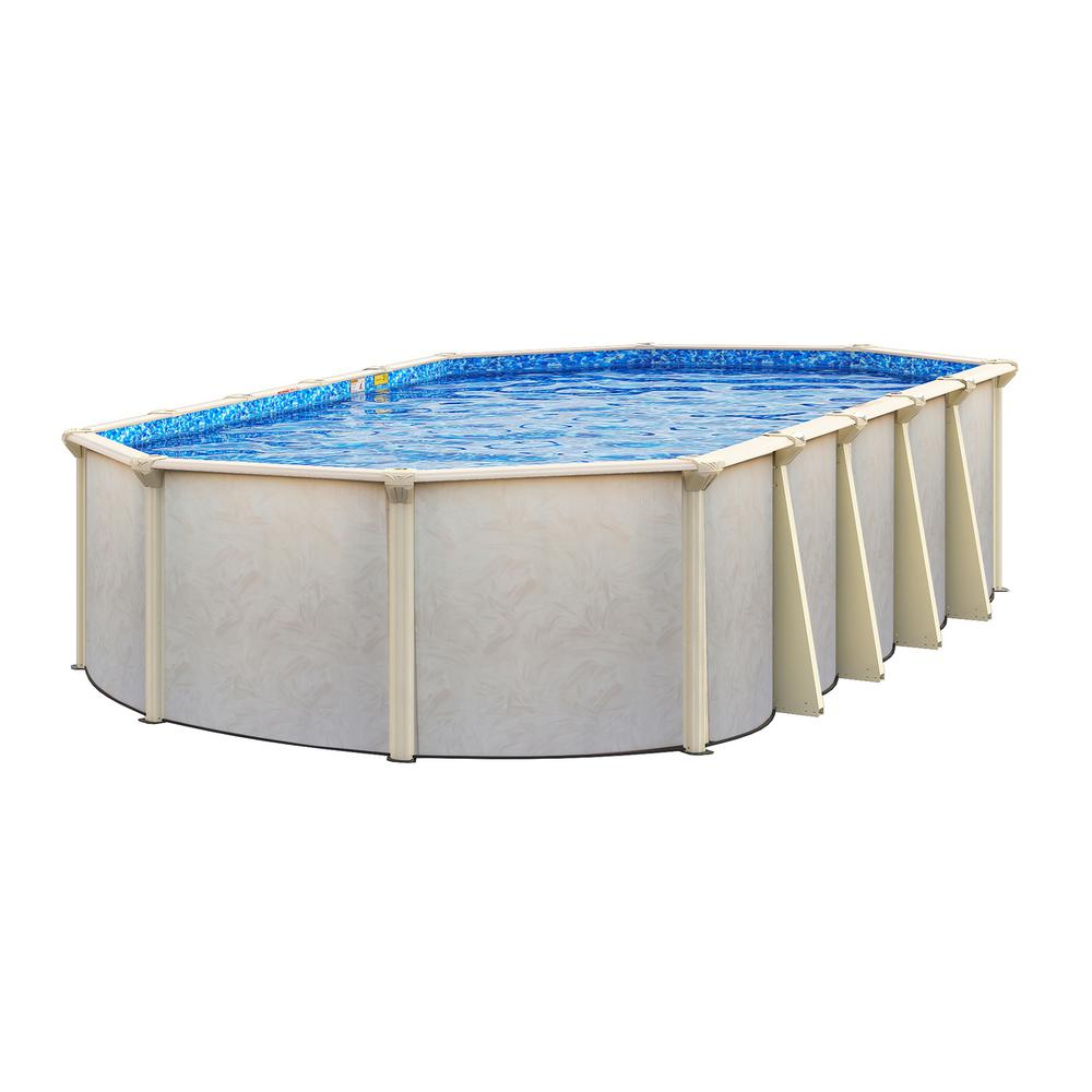 Floridian 16 ft. x 32 ft. Oval x 52 in. Deep Above Ground Pool ...