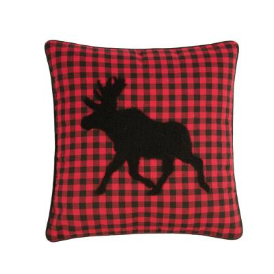 18 in. x 18 in. Woodford Moose Pillow