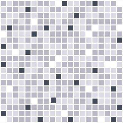 3D Retro 16/1000 in. x 37 in. x 19 in. Grey Mix PVC Wall Panel