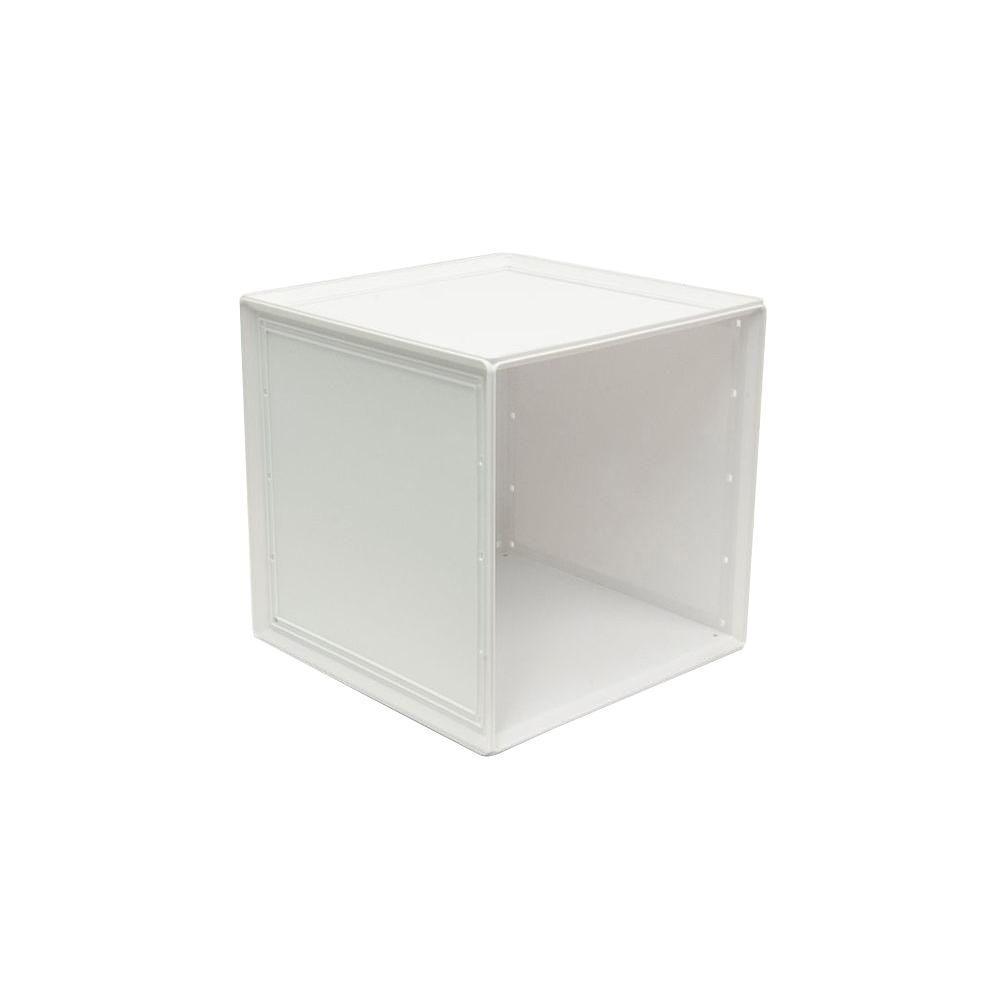 B In 14 8 In X 14 8 In White Storage Cube 2 Pack Bin