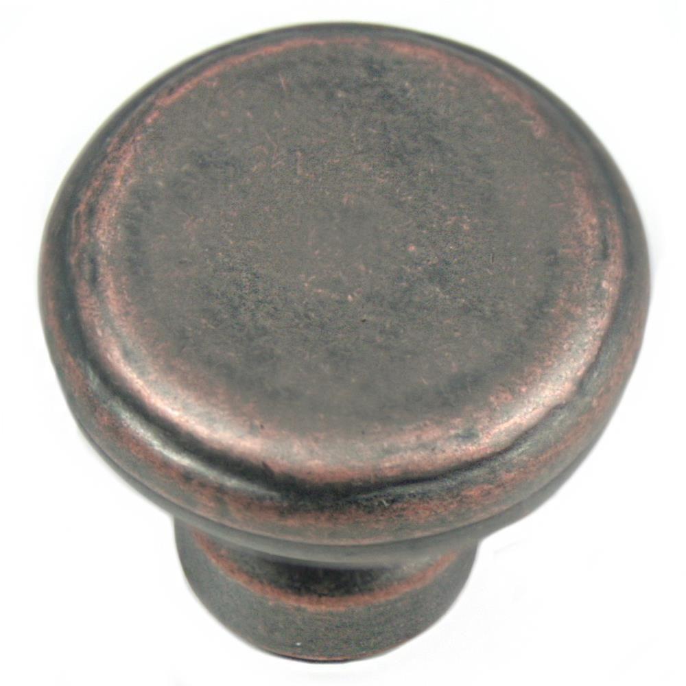 2 in. Antique Copper Large Riverstone Button Knob