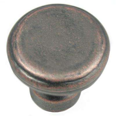 2 in. Antique Copper Large Riverstone Button Knob