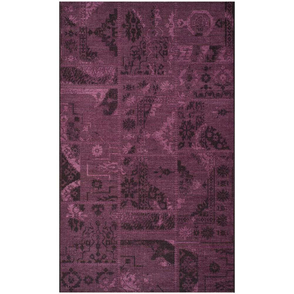 Safavieh Palazzo Black Purple 5 Ft X 8 Area Rug