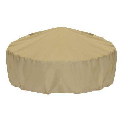 60 in. Fire Pit Cover in Khaki