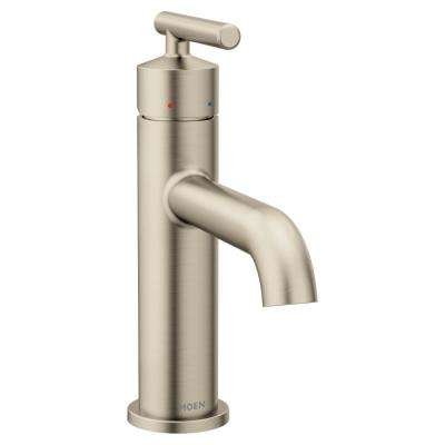 Gibson Single Hole Single-Handle Bathroom Faucet with Drain Assembly in Brushed Nickel