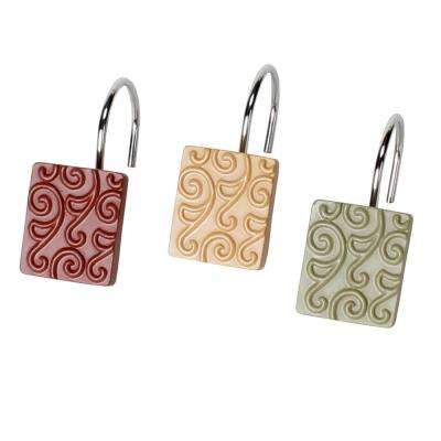 Inspire Freestanding Shower Curtain Hooks (12-Pack)