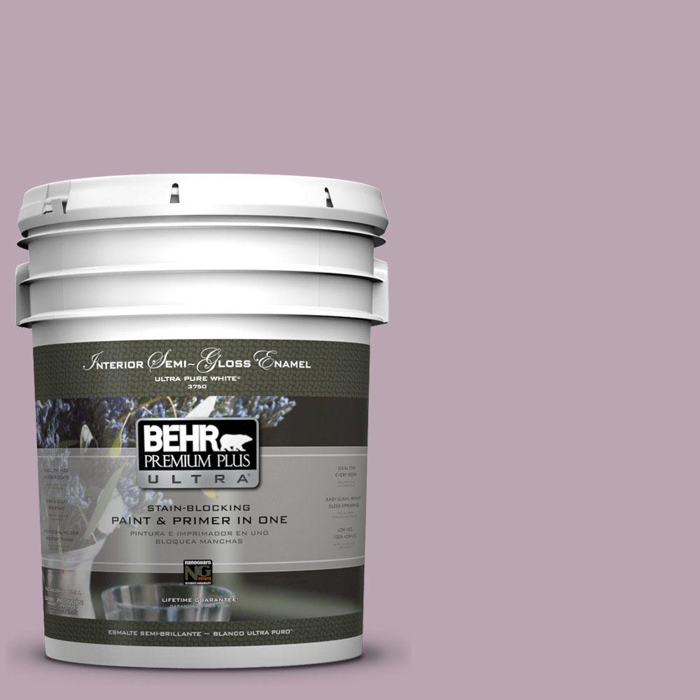 5-gal. #690F-4 Midsummer Dream Semi-Gloss Enamel Interior Paint