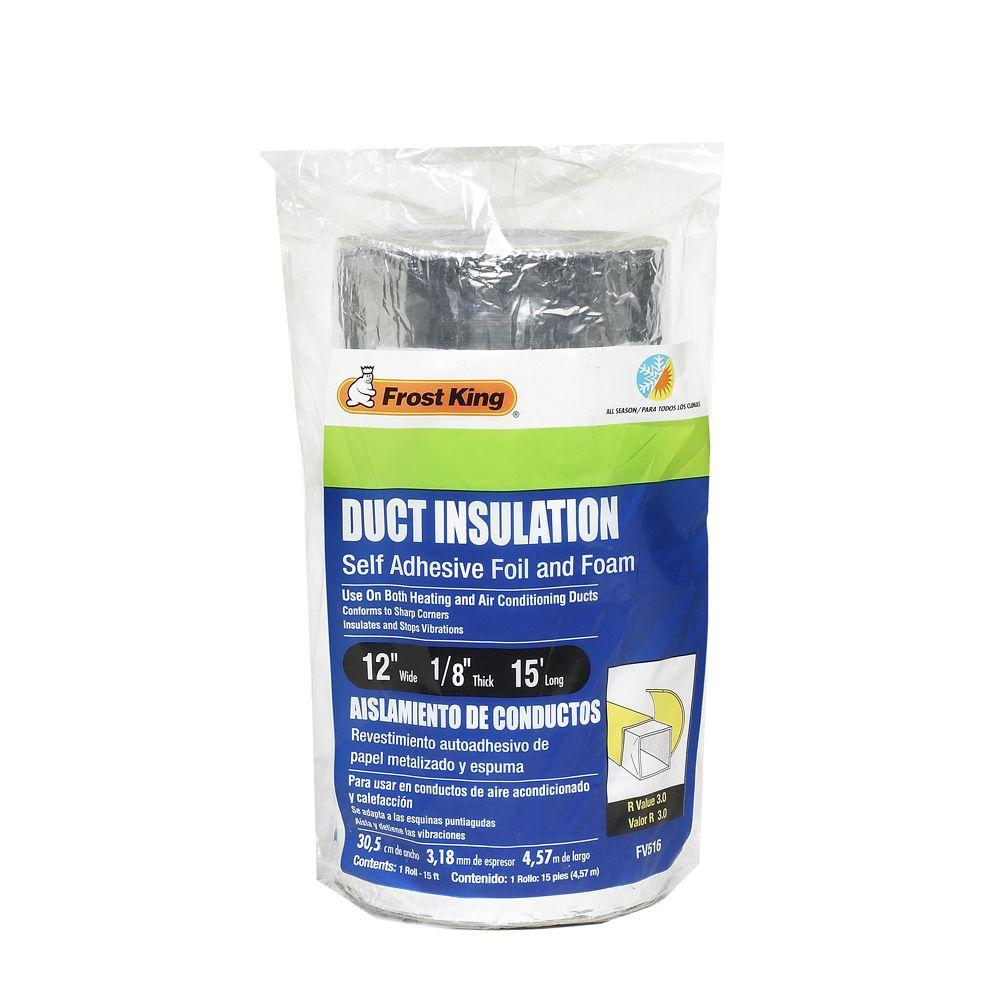 E O 12 In X 15 Ft Self Stick Foam Foil Duct Insulation Fv516 The Home Depot