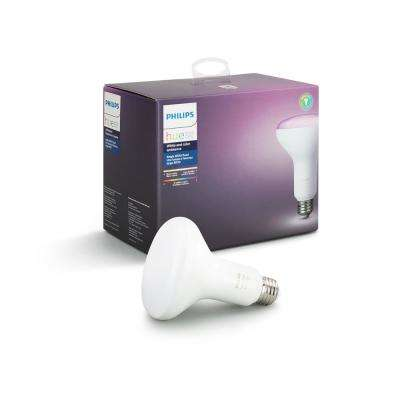 Hue 65-Watt Equivalent White and Color Ambiance BR30 Connected Home LED Flood Light Bulb