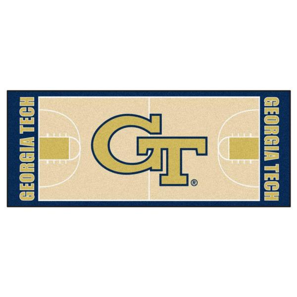 Georgia Tech 3 ft. x 6 ft. Basketball Court Rug Runner Rug