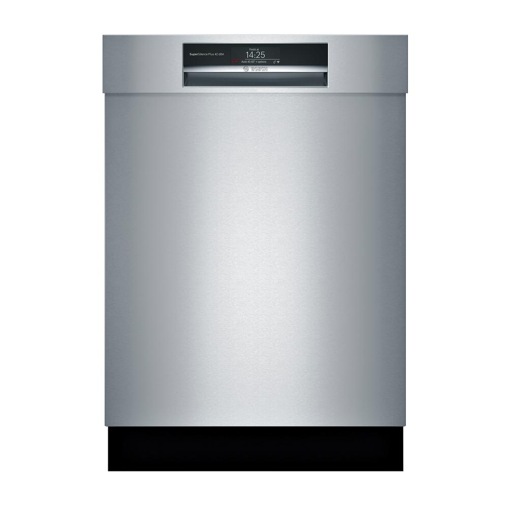 Bosch 800 Series Front Control Tall Tub Smart Dishwasher in Stainless Steel with Stainless Steel Tub and Home Connect, 42dBA