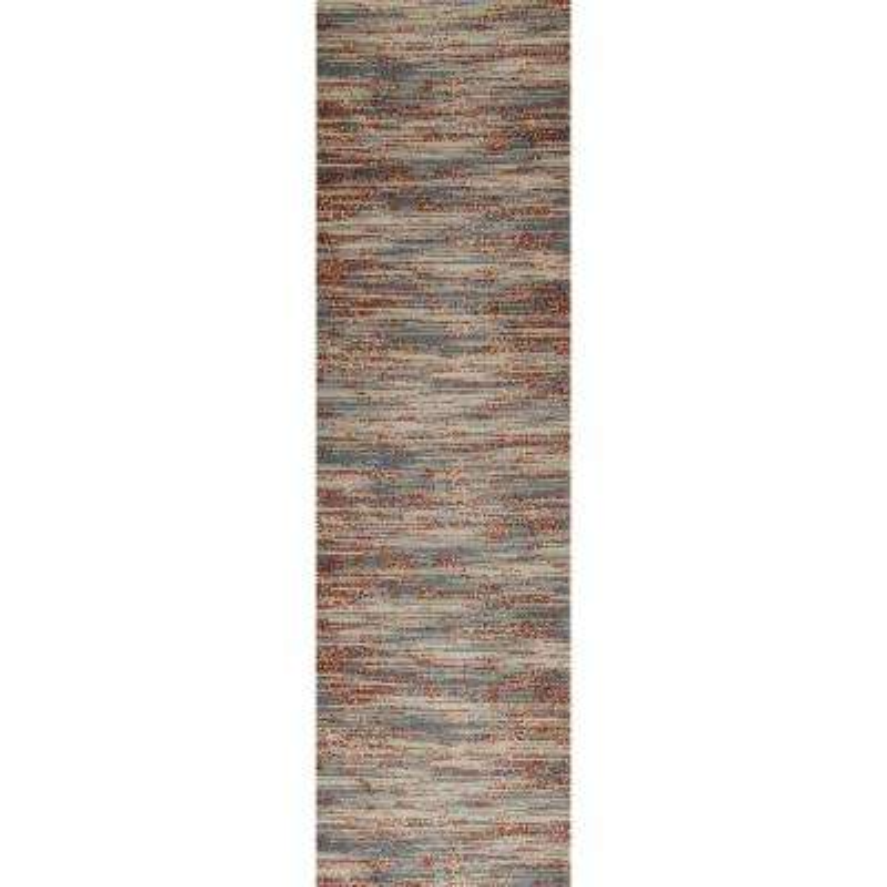 Ferndale Brushstrokes Gray 2 ft. x 8 ft. Runner Rug