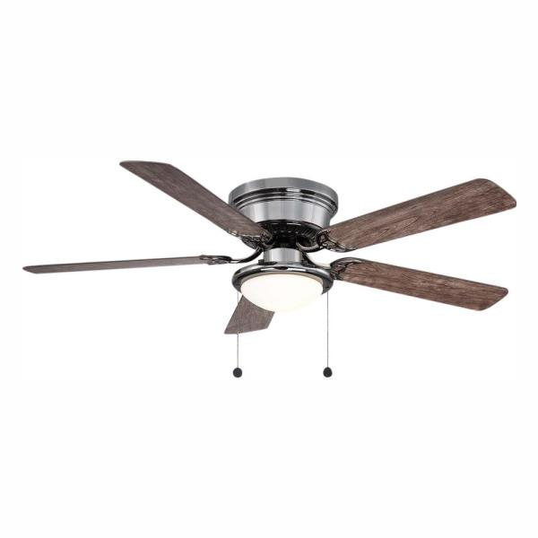 Hugger 52 in. LED Gunmetal Ceiling Fan