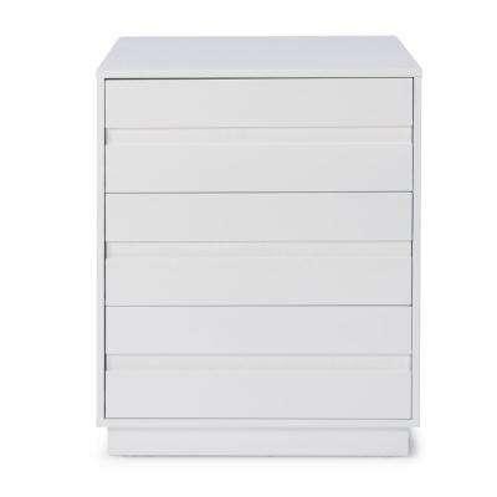 Linear 3-Drawer White Storage Island Unit