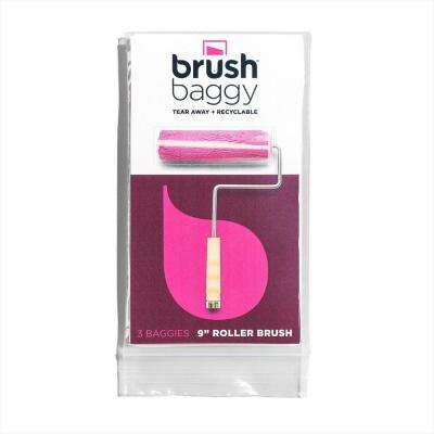Small Project Pack 9 in. Roller Brush Cover Zip Top Bag (3-Pack)