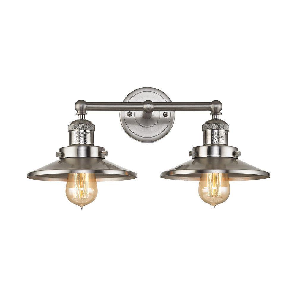 Titan Lighting English Pub Light Satin Nickel Vanity LightTN - Bathroom light fixtures brass finish