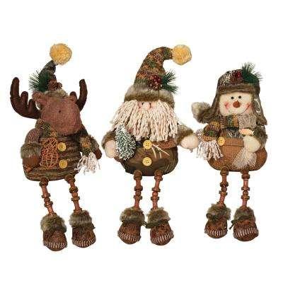 S/3 Asst 14 in. H Plush Figurines