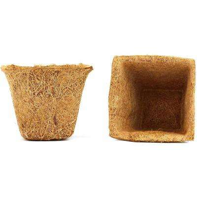 Coco Seed Cups 4 in. Brown Coir Grow Pots (20-Pack)