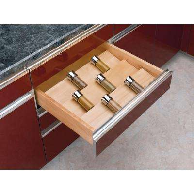 1.5 in. H x 22 in. W x 19.75 in. D X-Large Wood Spice Drawer Insert