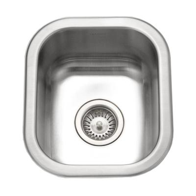Club Series 18 Gauge Stainless Steel 13 in. Undermount Bar Sink