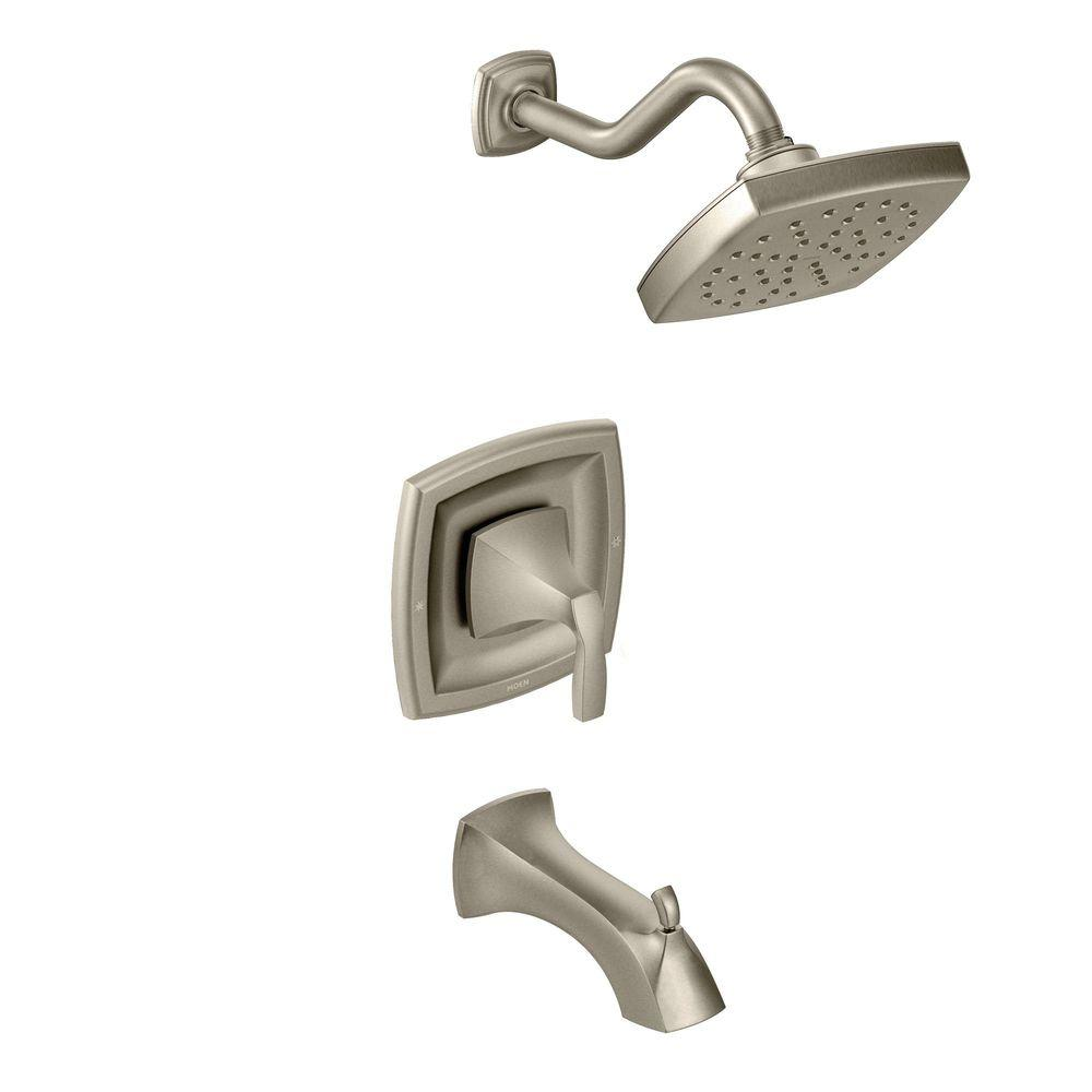 brushed nickel tub and shower faucet set. MOEN Voss Single Handle 1 Spray Moentrol Tub and Shower Faucet Trim Kit in