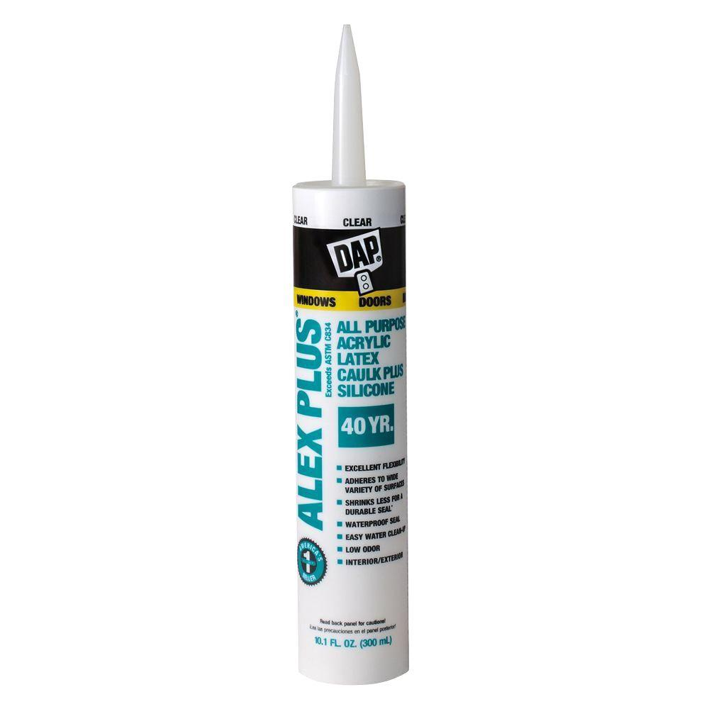 Alex Plus 10.1 oz. Clear All-Purpose Caulk