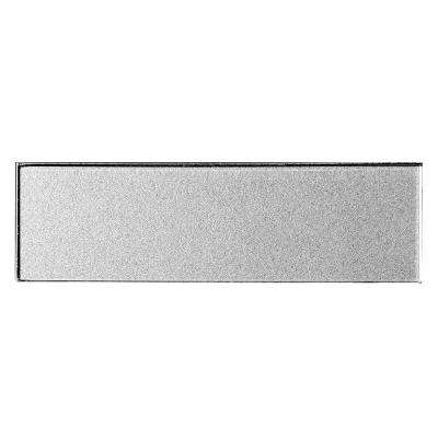 Secret Dimensions 3 in. x 12 in. Silver Glass Glossy Peel and Stick Decorative Wall Tile Backsplash (4-Pack)