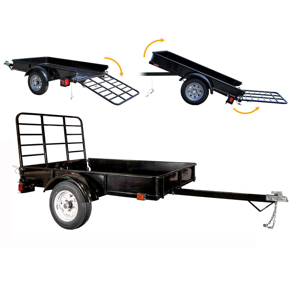 Detail K2 1295 Lbs Capacity 4 Ft X 6 Ft Flatbed Trailer
