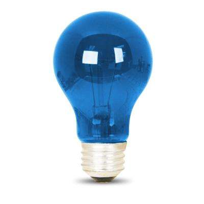 25-Watt Blue A19 Dimmable Incandescent Party Light Bulb (Case of 24)