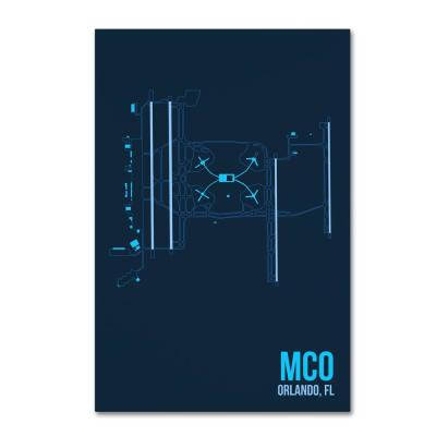 """12 in. x 19 in. """"MCO Airport Layout"""" by 08 Left Canvas Wall Art"""
