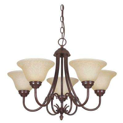 Madrid 5-Light Rubbed Bronze Chandelier