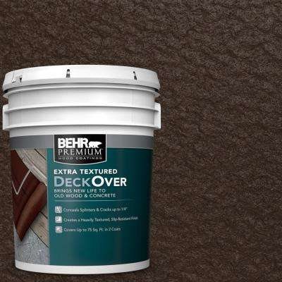 5 gal. #SC-105 Padre Brown Extra Textured Solid Color Exterior Wood and Concrete Coating