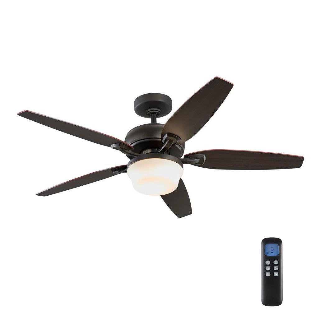 Home Decorators Collection Arrano 56 in. Integrated LED Indoor Oil Rubbed Bronze DC Ceiling Fan with Light Kit and Remote Control