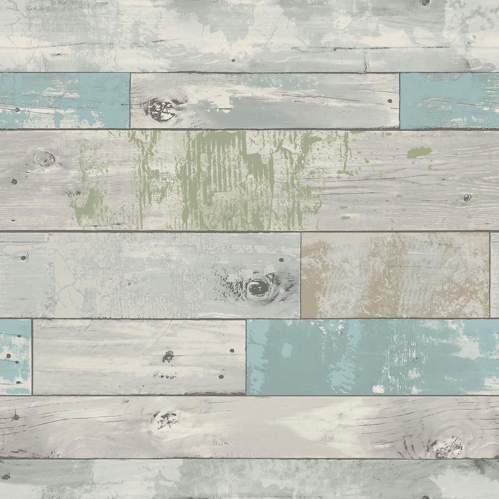 NuWallpaper Multi Color Beachwood Wallpaper by NuWallpaper