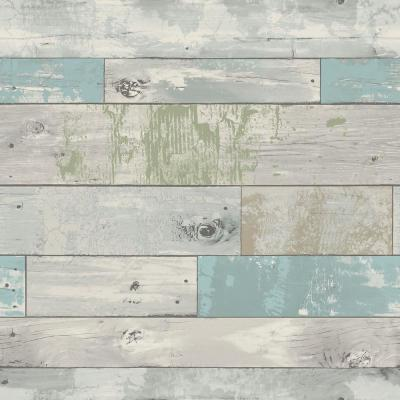 Multi Color Beachwood Wallpaper