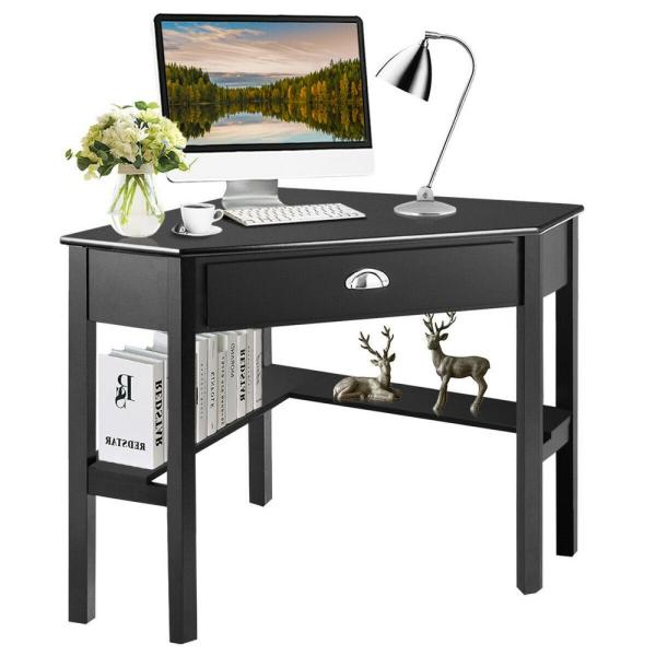 Drawer Computer Desk With Solid Wood