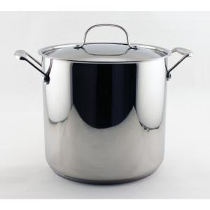 EarthChef Premium 10 Qt. 18/10 Stainless Steel Stockpot with Lid
